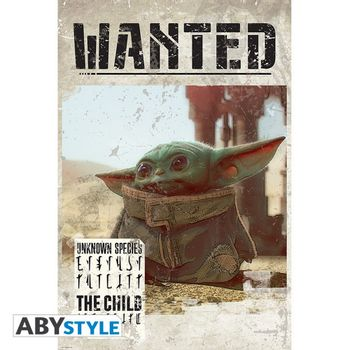 Poster Star Wars: The Mandalorian - Baby Yoda Wanted, 91.5x61cm