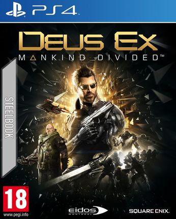 PS4 Deus Ex: Mankind Divided Steelbook [USED] (Grade A)