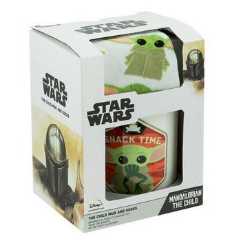 Gift Set: Star Wars: The Mandalorian - The Child (Baby Yoda) Sock and Mug, 300ml/Size 41-46 EU