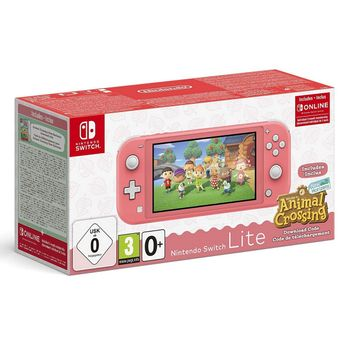 Nintendo Switch Lite - Coral incl. Animal Crossing: New Horizons