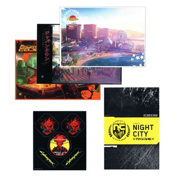 Cyberpunk 2077 - Postcards 3-Pack, Stickers and Night City Map (54x48cm)