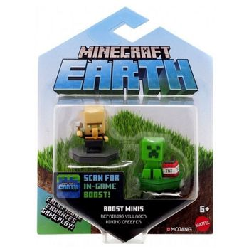 Minecraft Earth 2-Pack - Repairing Villager and Mining Creeper Boost Minifigures