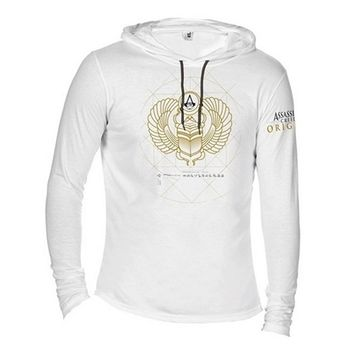 Hoodie: Assassin's Creed: Origins - Scarab Symbol, White Size L
