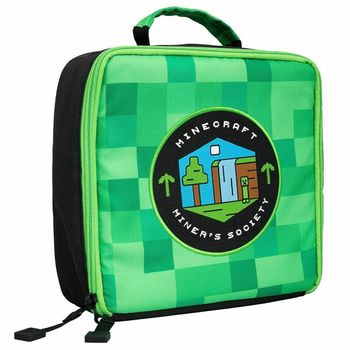 Minecraft - Miners Society Lunch Bag, Green