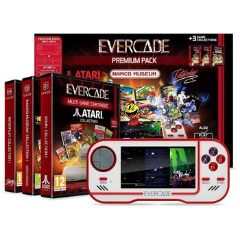 Evercade Retro Games Console Premium Pack incl. 3 Games Collections