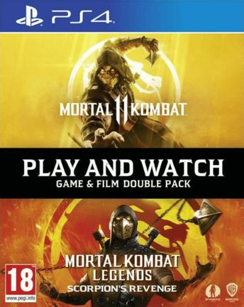 PS4 Mortal Kombat 11 Play and Watch Double Pack incl. MK Legends: Scorpion's Revenge Blu-Ray