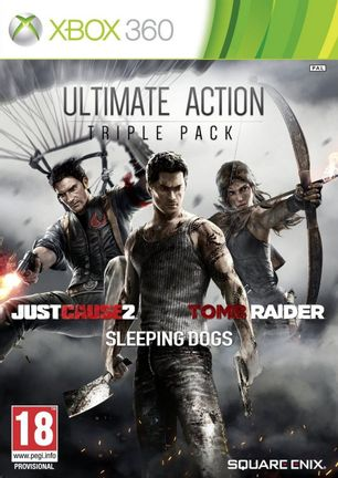 Xbox 360 Ultimate Action Triple Pack: Just Cause 2, Tomb Raider and Sleeping Dogs [USED (Grade A)