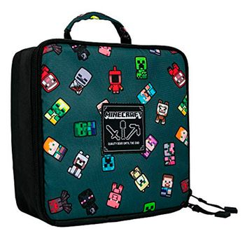 Minecraft - Bobble Mobs Insulated, Lunch Bag ,Gray