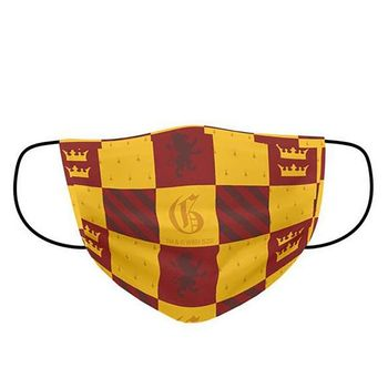 Face Mask: Harry Potter - Gryffindor Pattern