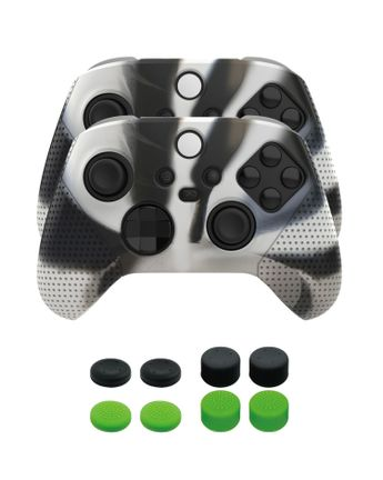 Piranha 2 Controller Protective Silicone Skins and 4 x 4 Grips Pack (Xbox Series X)