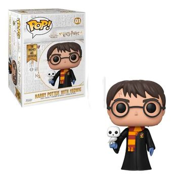 POP! Harry Potter - Harry Potter with Hedwig Super Sized Vinyl Figure, 45 cm