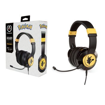 PowerA Wired  Headset: Pokemon - Pikachu Silouette ( Xbox One, PS4, Switch, PC)