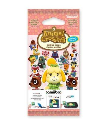 Amiibo Animal Crossing - Happy Home Designer Cards 3-Pack, Series 4