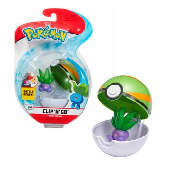 Pokemon: Clip 'N' Go - Oddish + Nest Ball, Series 2