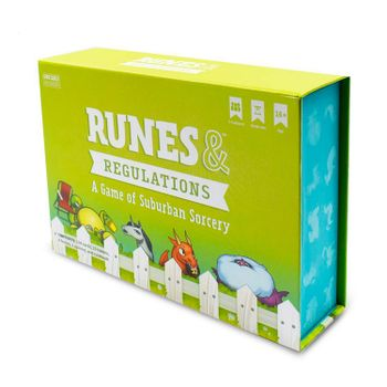 Runes and Regulations Board Game, 2-4 Players
