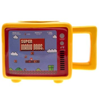 Super Mario - Retro TV Heat Change 3D Mug, 500ml