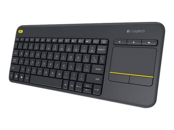 Logitech K400 Plus Wireless Touch Keyboard - Black, Nordic Layout (PC)