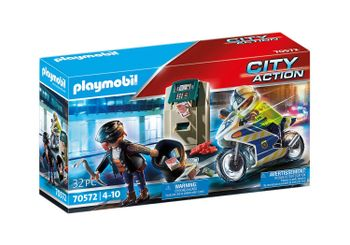 Playmobil - Police motorcycle: pursuit of the money robber (70572)