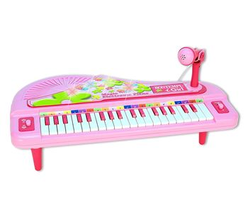 Small piano w / microphone and light effects