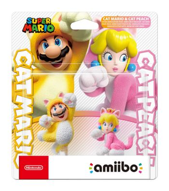Amiibo Super Mario - Cat Mario and Cat Peach 2-Pack