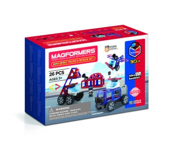 Magformers - Amazing Police Rescue Set, 26 Pieces