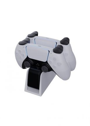 Piranha Dual Controller Charge Station - White/Black (PS5)