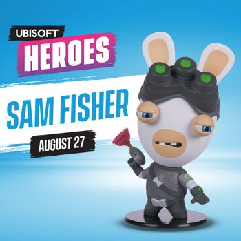 Ubi Collectibles: Heroes Collection - Rabbids Sam Fisher Chibi Figure, 10cm