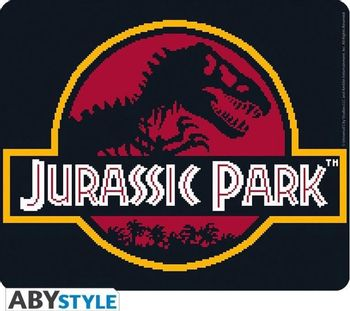 Mouse Pad Jurassic Park - Pixel Logo, Flexible 235x195mm