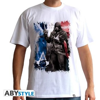 T-Shirt Assassin's Creed Unity - Flag, White Size L