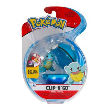 Pokemon: Clip 'N' Go - Squirtle + Dive Ball, Series 1