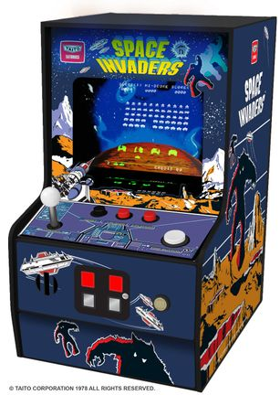 Myarcade Micro Player Collectible Retro - Space Invaders Portable Console