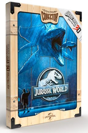 Jurassic World - Mossa Wooden Poster