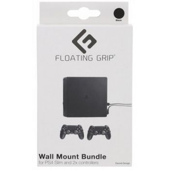 Floating Grip Wall Mount Bundle for PlayStation 4 SLIM and Controllers - Black
