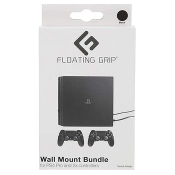 Floating Grip Wall Mount Bundle for PlayStation 4 PRO and Controllers - Black