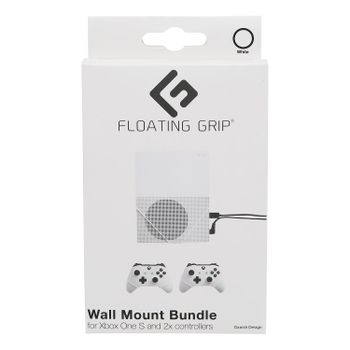 Floating Grip Wall Mount Bundle for Xbox One S and Controllers - White