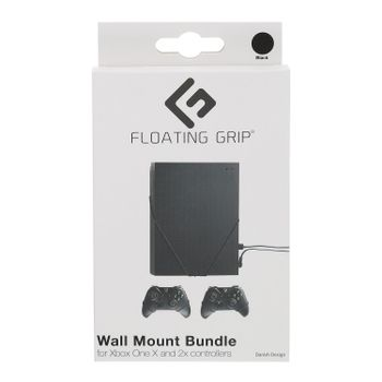 Floating Grip Wall Mount Bundle for Xbox One X and Controllers - Black