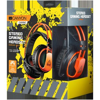 CANYON Corax GH-5A Gaming Headset Wired - Black/Orange