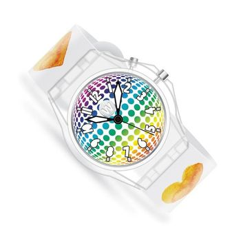 Watchitude - GLOW Watch for kids - Watercolor Hearts