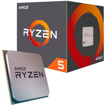 AMD CPU Desktop Ryzen 5 6C/12T 1600 (3.2/3.6GHz Boost,19MB,65W,AM4), Box with Wraith Stealth Cooler