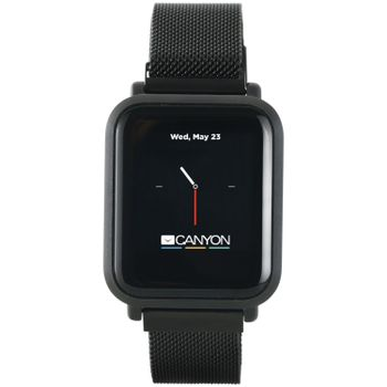 CANYON SW-73 Sanchal Smart Watch - 6H Glass, IP68 Waterproof, 150mAh, Black (Android, IOS)