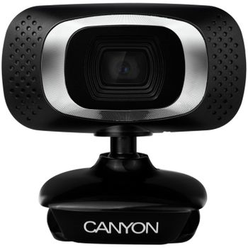 CANYON C3 1.0 MegaPixels Webcam - HD, USB2.0, Cable 2.0m, Black (PC)