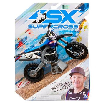 Supercross - 1:10 Die Cast Collector Motorcycle - Ricky Carmichael