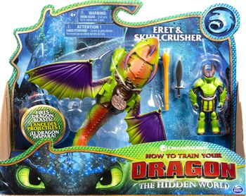 How to Train Your Dragon: The Hidden World - Eret and Skullcrusher Action Figures