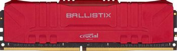 Crucial DRAM Ballsitix - 8GB, DDR4, 2666MT/s, CL16, Unbuffered, Red