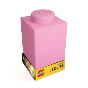 LEGO - Silicone Brick - Night Light w/LED - Pink
