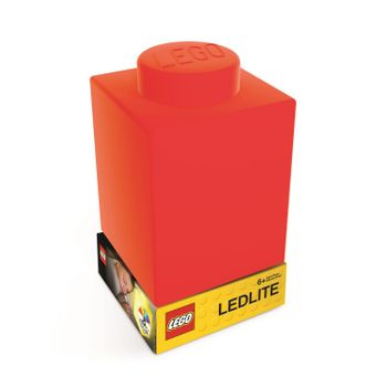 LEGO - Silicone Brick - Night Light w/LED - Red