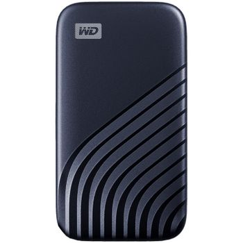 WD 500GB My Passport SSD - Portable SSD, R/W: 1050MB/s /1000MB/s, USB 3.2 Gen 2 - Midnight Blue