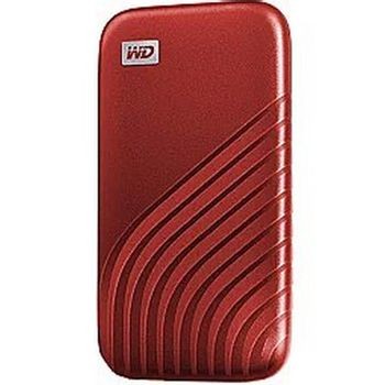 WD 500GB My Passport SSD - Portable SSD, R/W: 1050MB/s /1000MB/s, USB 3.2 Gen 2 - Red