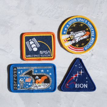 NASA Iron On Patch Set