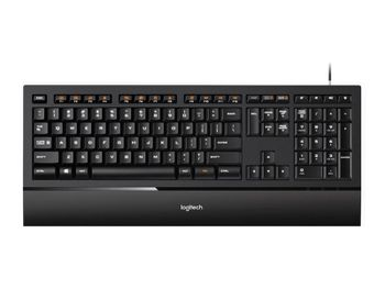 Logitech K740 Illuminated Keyboard - USB, Black
